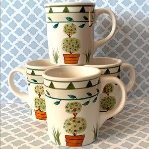 4 Mugs Topiary